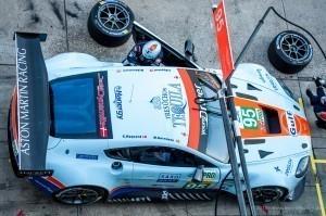 Aston Martin Vantage GTE in der Box am Nürburgring