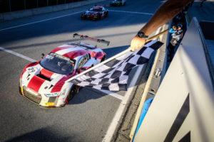 Land Motorsport, Christopher Mies, Christopher Haase, Kelvin van der Linde, Intercontinental GT Challenge Laguna Seca