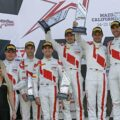 Christopher Mies, Christopher Haase, Connor De Phillippi, Markus Winkelhock, Pierre Kaffer, Kelvin van der Linde - California 8 Hours 2017 - Intercontinental GT-Challenge