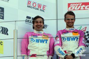 Markus Winkelhock und Nico Müller Mücke Motorsport VLN1 2018 ADAC Westfalenfahrt