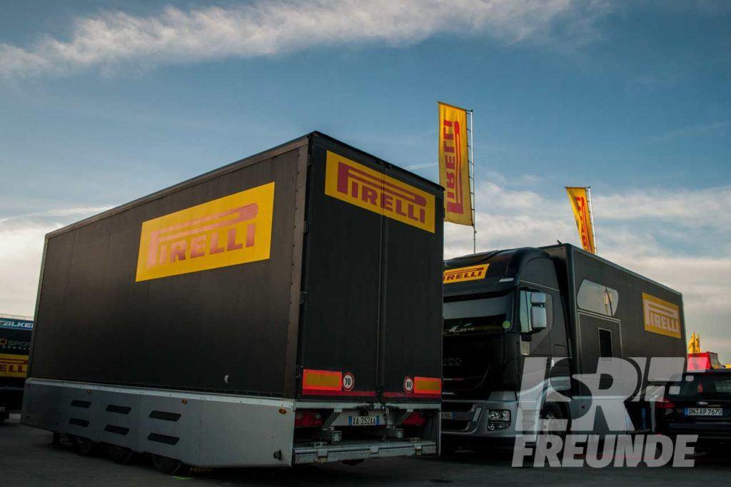 Pirelli LKW am Nürburgring beim N24h Quali 2018