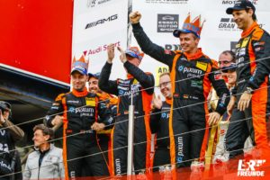 Adrenalin Motorsport - Siegerpodest - Matthias Unger, Danny Brink, Christopher Rink, Philipp Leisen, DMV Münsterlandpokal VLN9 43. DMV Münsterlandpokal 2018
