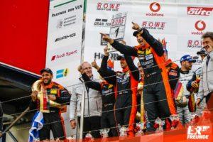Adrenalin Motorsport - Siegerpodest - Matthias Unger, Danny Brink, Christopher Rink, Philipp Leisen, 43. DMV Münsterlandpokal VLN9 2018