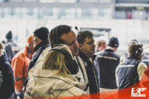Herbert Schnitzer jr. bei der Arbeit - VLN2 2019 44. DMV 4h-Rennen