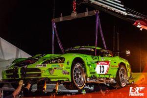"""Dodge Viper """"das grüne Biest"""" am Haken ADAC TOTAL 24h-Rennen Nürburgring 2019"""