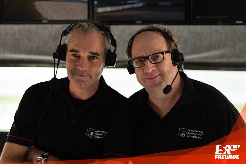 VLN Streckensprecher Lars Gutsche und Olli Martini