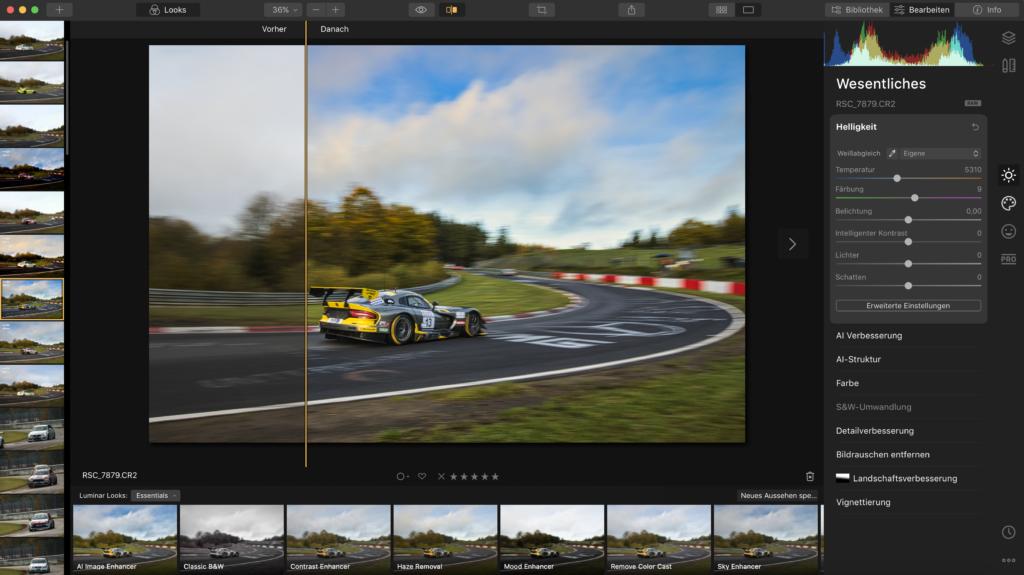 Screenshot Luminar 4 - Bildbearbeitung mit Luminar 4