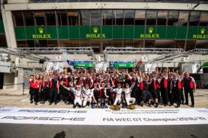 FIA WEC 2018/2019 Champions: Porsche GT Team