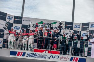 Black Falcon Dubai 24h 2020 Khaled Al Qubaisi (VAE), Ben Barker (UK), Jeroen Bleekemolen (NL), Hubert Haupt (DE) und Manuel Metzger (DE)