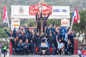 2020 FIA World Rally Championship Round 01 Rallye Monte-Carlo 22-26 January 2020 Day 3, Podium, Thierry Neuville, Nicolas Gilsoul, Hyundai i20 Coupe WRC, Thomas Schemera, Scott Noh, Andrea Adamo
