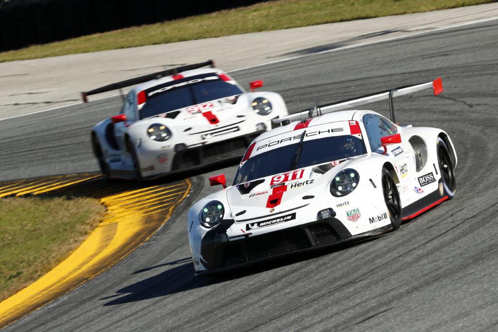 Porsche 911 RSR, Porsche GT Team (911): Nick Tandy (GB), Frederic Makowiecki (F), Matt Campbell (AUS), Porsche GT Team (912): Earl Bamber (NZ), Mathieu Jaminet (F), Laurens Vanthoor (B)