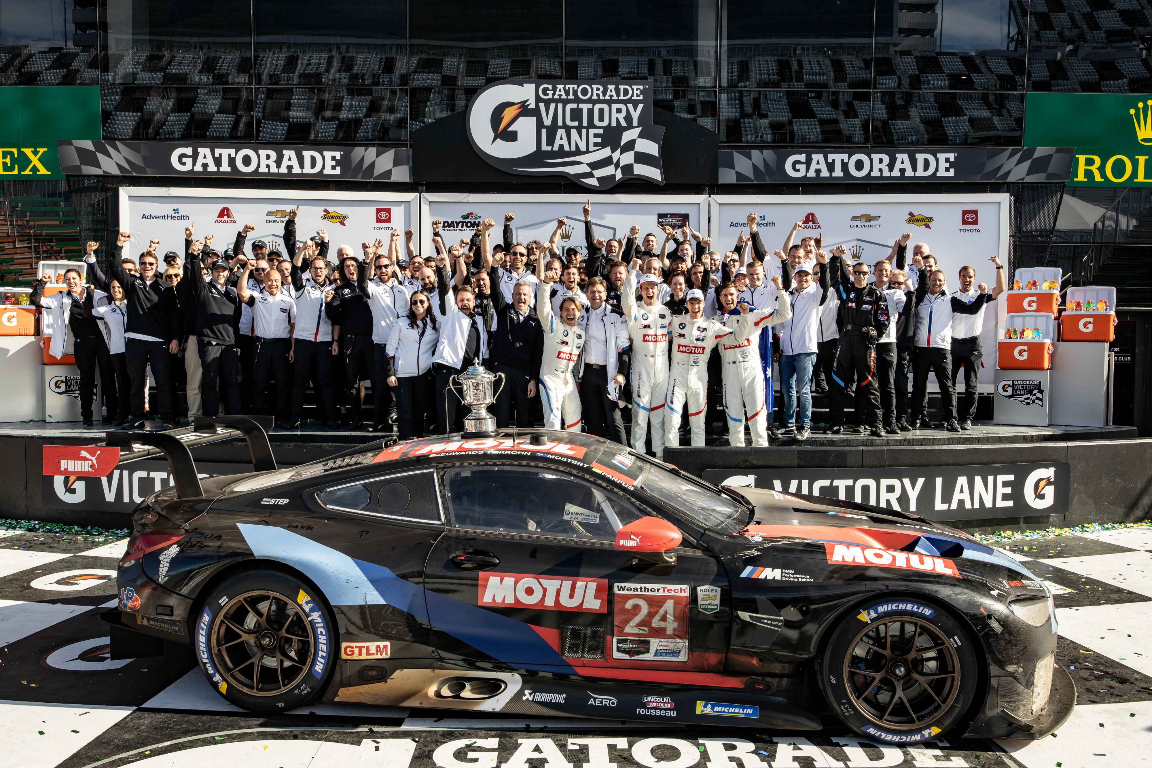 BMW Team RLL Rolex 24h Daytona 2020 Siegerehrung