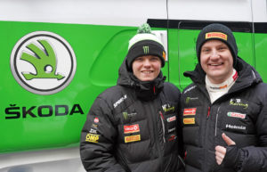Oliver Solberg (links) und Aaron Johnston