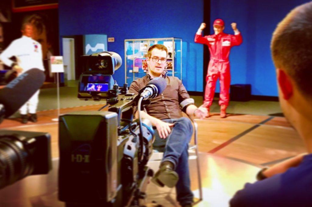 Alexander Kraß Dreharbeiten zur Niki Lauda Doku im Ring°Werk 2019