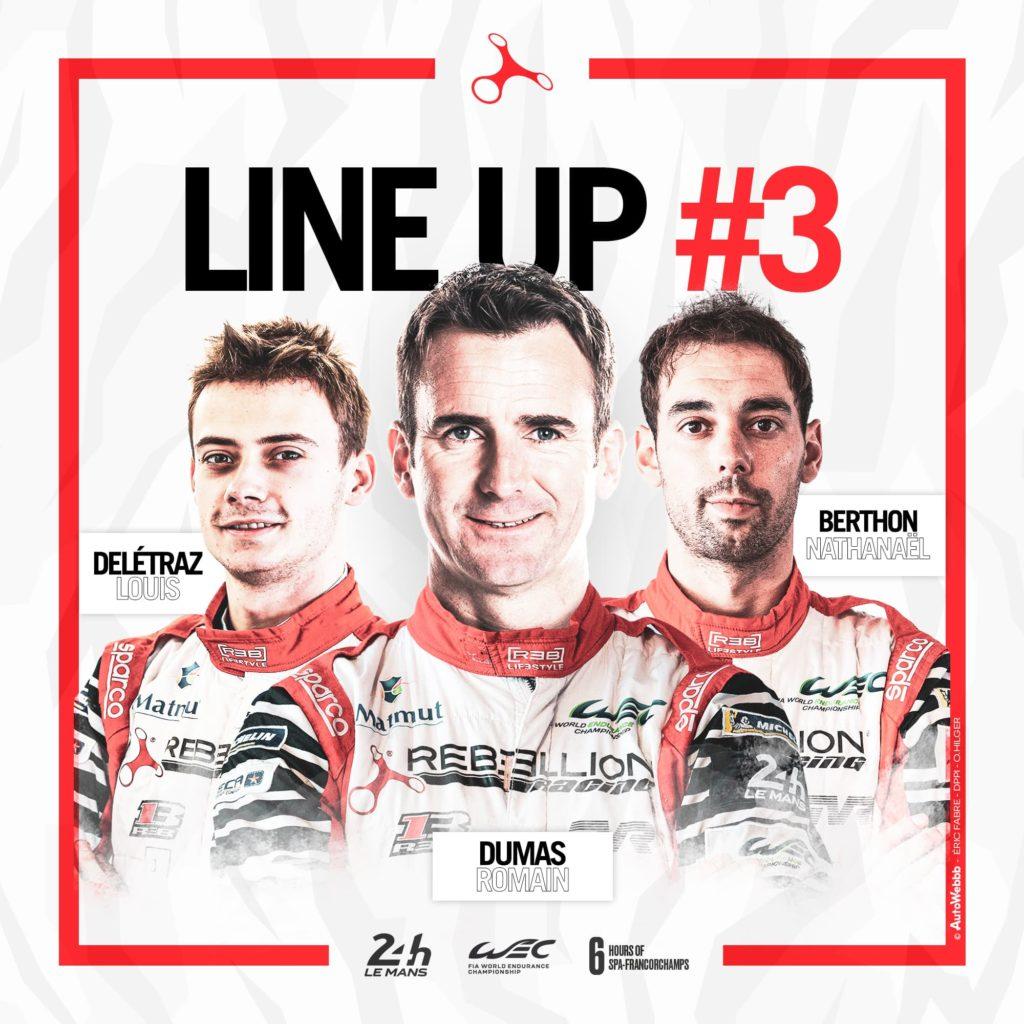 REBELLION Racing #3 Lineup 2020