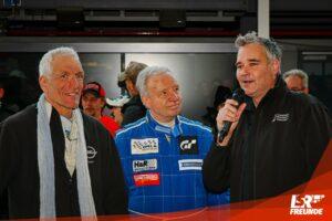 Peter Hass und Olaf Beckmann mit Lars Gutsche