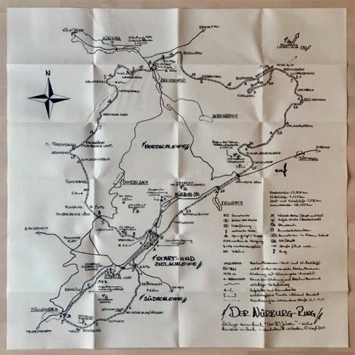 Karte des Nürburgrings