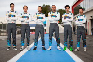 R-Motorsport Sprint Cup squad: Hugo de Sadeleer, Marvin Kirchhöfer, Tom Blomqvist, Luca Ghiotto, James Pull and Ricky Collard