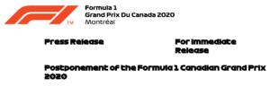FIA F1 Kanada GP 2020