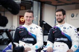 ABB FIA Formula E Championship Season 6, Testing, BMW i Andretti Motorsport, Maximilian Günther (GER) BMW iFE.20 #28 and Alexander Sims (GBR) ) BMW iFE.20 #27.