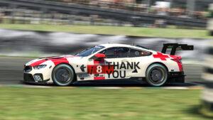 "BMW Motorsport SIM Racing. ""Race Like A Hero"" special livery, virtual BMW M8 GTE, iRacing, sim racing, simulation, simulator"