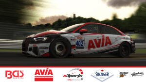 Sorg Rennsport eSports AVIA Audi RS3 TCR iRacing 2020