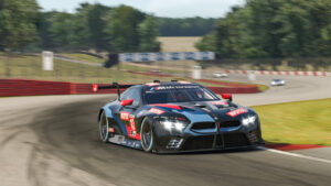 Sim racing, IMSA iRacing Pro Series, BMW M8 GTE, Mid-Ohio, Nick Catsburg.