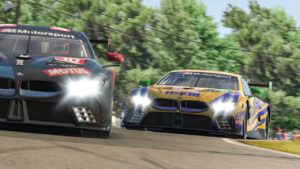 Sim racing, IMSA iRacing Pro Series, BMW M8 GTE, Mid-Ohio, Nick Catsburg, Robby Foley.