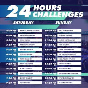 24h Challenges Zeitplan