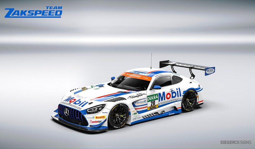 Der Mercedes-AMG GT3 vom Team Zakspeed BKK Mobil Oil Racing