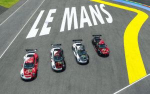 Das Porsche Esports Team setzt vier Porsche 911 RSR bei den virtuellen 24 Stunden von Le Mans ein