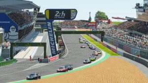 Porsche 911 RSR, Porsche Esports Team (#93), Nick Tandy (GB), Ayhancan Güven (TR), Joshua Rogers (AUS), Tommy Östgaard (N), Start