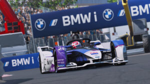 ABB Formula E Race at Home Challenge, BMW i Andretti Motorsport, BMW iFE.20, sim racing, Monaco, Maximilian Günther.