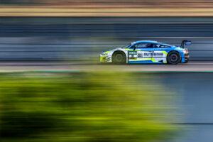 ADAC GT Masters, Lausitzring Test, Rutronik-Racing, Patric Niederhauser, Kelvin van der Linde