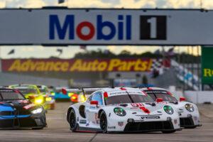 Porsche 911 RSR, Porsche GT Team (#911), Frederic Makowiecki (F), Nick Tandy (GB) IMSA Sebring 2020