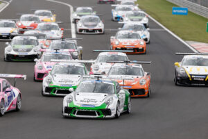 Start, Porsche 911 GT3 Cup, Ayhancan Güven (TR), Marvin Klein (F), Larry ten Voorde (NL), Porsche Mobil 1 Supercup, Budapest 2020