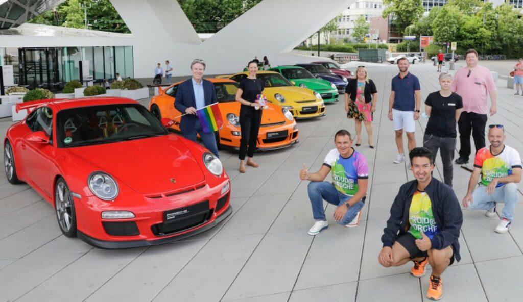 Andreas Haffner, Mitglied des Vorstandes Personal- und Sozialwesen, l, 911, Christopher Street Day, 2020, Porsche AG