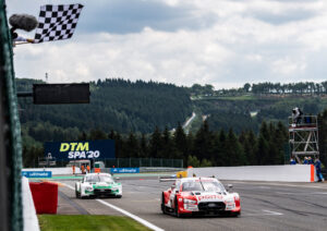 DTM 2020, Spa-Francorchamps Audi Sport RS 5 DTM #33 (Audi Sport Team Rosberg), René Rast, Castrol EDGE Audi RS 5 DTM #51 (Audi Sport Team Abt Sportsline), Nico Müller