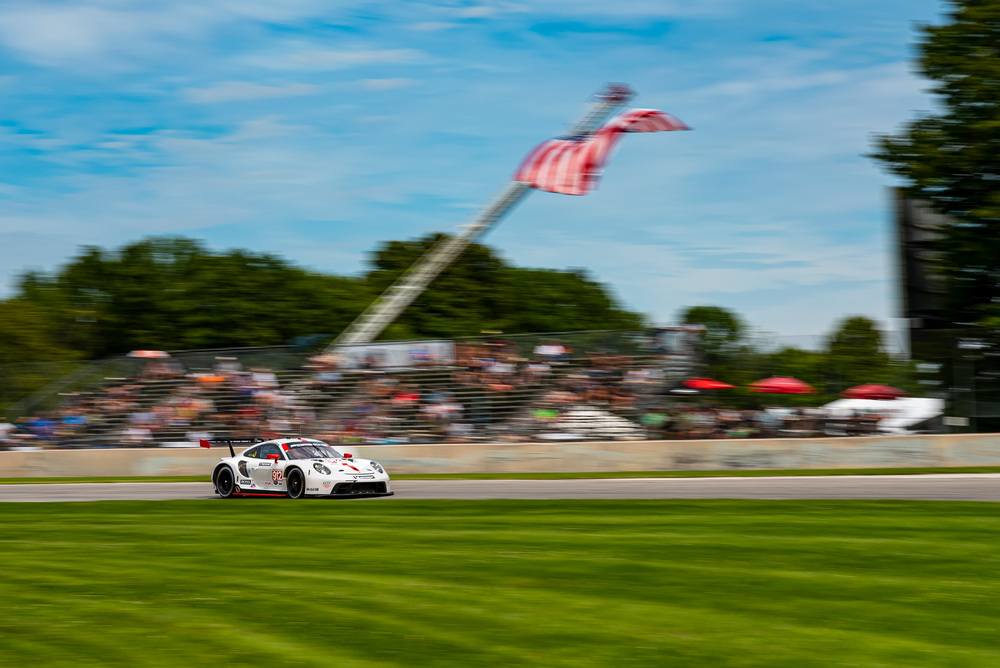IMSA Road Atlanta 2020 Porsche 911 RSR, Porsche GT Team (#912), Earl Bamber (NZ), Laurens Vanthoor (B)