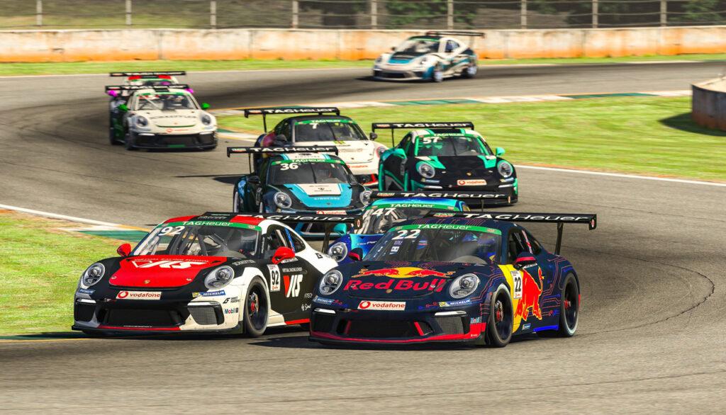 Porsche 911 GT3 Cup, Joshua Rogers (AUS), #92, Sebastian Job (GB), #22, Porsche TAG Heuer Esports Supercup, 2020 Porsche TAG Heuer Esports Supercup 2020, Road Atlanta,