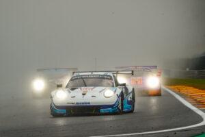 FIA WEC Spa 2020 Porsche 911 RSR, Team Project 1 (#56), Egidio Perfetti (N), Laurents Hörr (D), Matteo Cairoli (I)