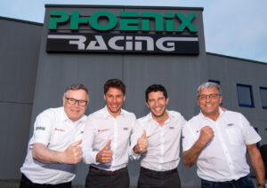 Team Phoenix Racing Dirk Theimann, Loïc Duval, Mike Rockenfeller, Ernst Moser