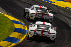 Porsche 911 RSR, Porsche GT Team (#912), Earl Bamber (NZ), Laurens Vanthoor (B); (#911), Frederic Makowiecki (F), Nick Tandy (GB) IMSA 2020 Road Atlanta