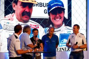 Nürburgring (GER), 19th June 2019. BMW M Motorsport, 24h Nürburgring, Nordschleife, Johannes Scheid (GER) with Sabine Schmitz (GER).