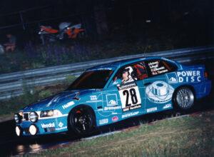 Nürburgring (GER). Johannes Scheid, BMW M3 E36, Eifelblitz, Nürburgring 24 Hours, Nordschleife, 1997.