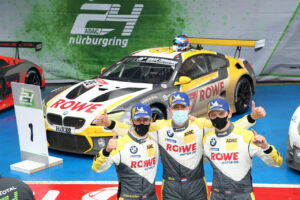 Nürburgring (GER), 27th September 2020. BMW M Motorsport, 24h Nürburgring, Nordschleife, Winner #99 BMW M6 GT3, ROWE Racing, Nick Catsburg (NED), Philipp Eng (AUT), Alexander Sims (GBR), Nick Yelloly (GBR).