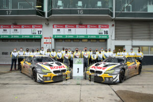 Nürburgring (GER), 27th September 2020. BMW M Motorsport, 24h Nürburgring, Nordschleife, Team picture, Winner #99 BMW M6 GT3, ROWE Racing, Nick Catsburg (NED), Philipp Eng (AUT), Alexander Sims (GBR), Nick Yelloly (GBR) and Hans Peter Nauendorf (GER) Team Principal ROWE Racing.