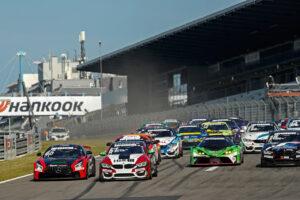 2020 DTM Trophy Nürburgring GP; Start, Tim Heinemann (GER), HP Racing, Mercedes AMG Michael Schrey (GER), Bonk Motorsport, BMW M4