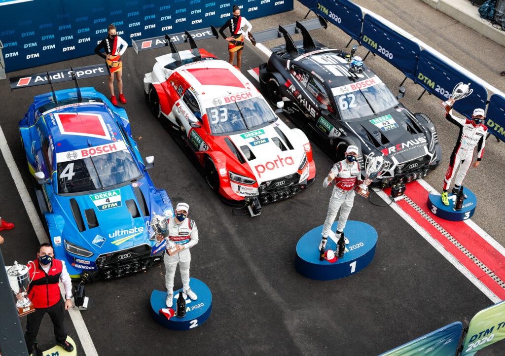 DTM 2020, Zolder II Davide Maino, Robin Frijns, René Rast, Ferdinand Habsburg