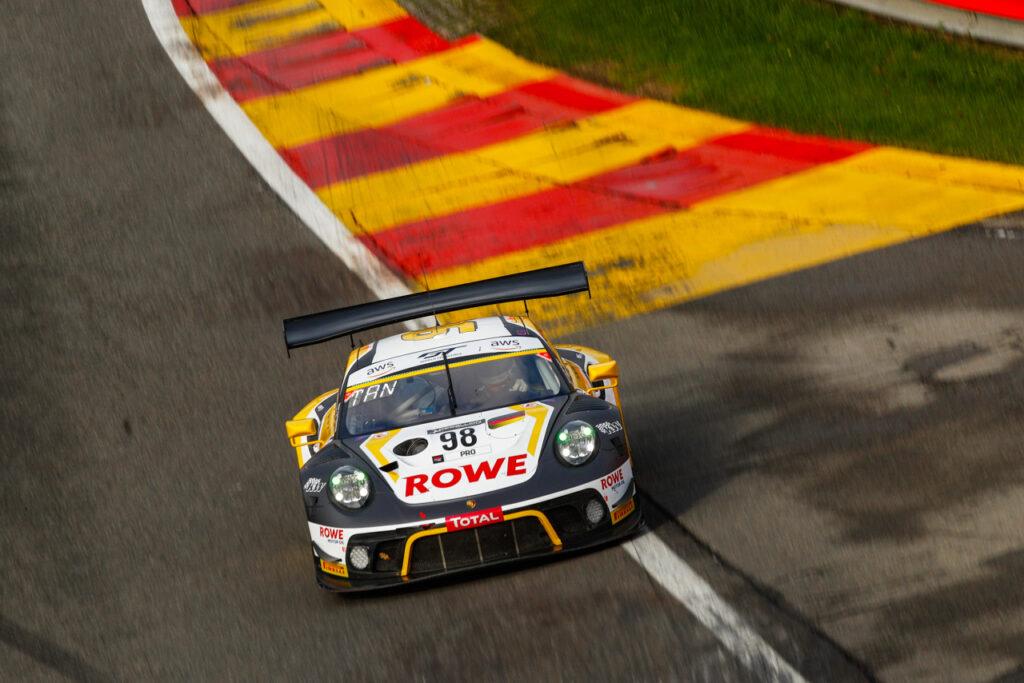 24 Hours of Spa Porsche 911 GT3 R, Rowe Racing (#98), Nick Tandy (GB), Earl Bamber (NZ), Laurens Vanthoor (B)